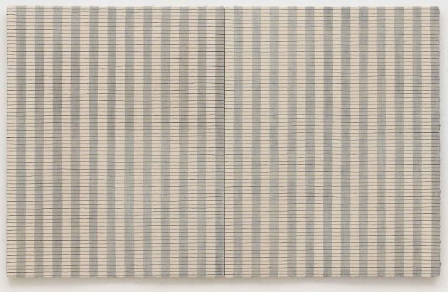 Ribbons, 2011. Oil, enamel, pigment and PVA on canvas, 153 x 244 cm