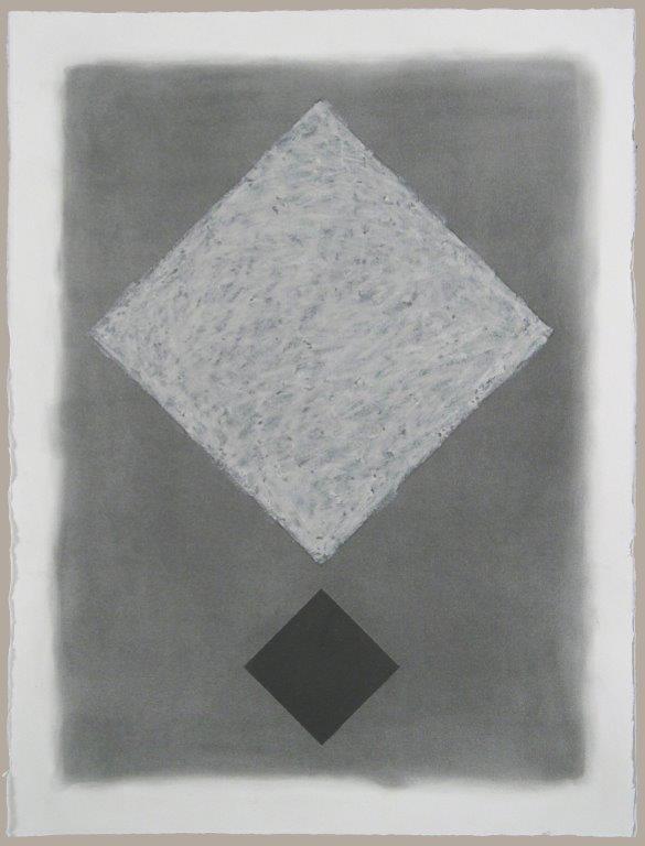 Diamond Lattice 25, 2012, graphite and micaceous oil stick on Fabriano 300 lb. hotpress, 30 x 22