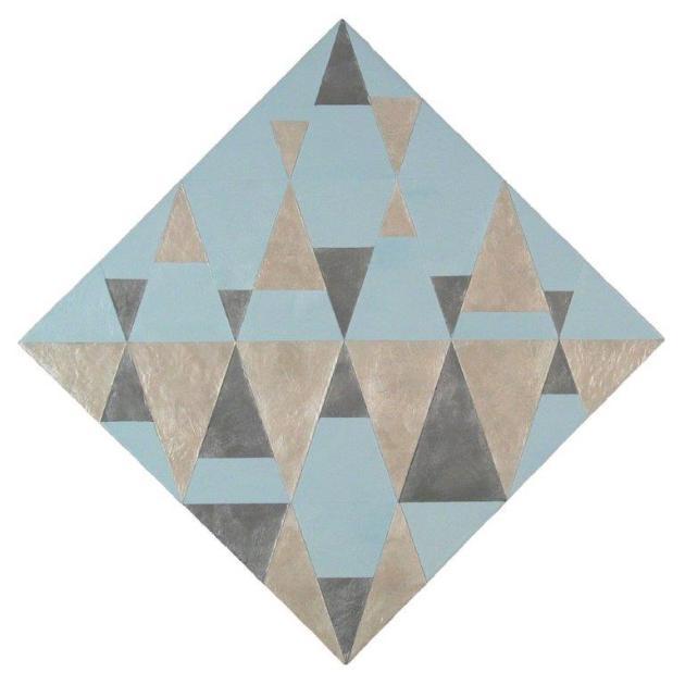 Diamond Life 24, 2013, encaustic on panel, 22.5 x 22.5