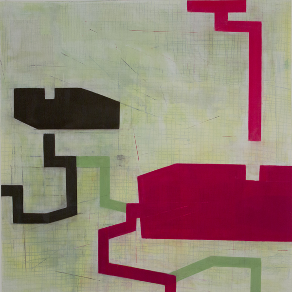 Geometries of Flow D15   2013   oil on Mylar   24 x 24 inches