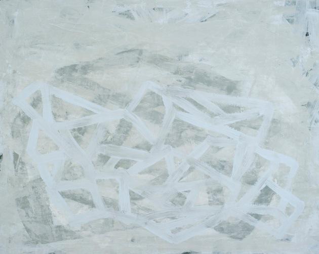 "Fragment (ghost), 2013, acrylic on panel, 16"" x 20"""