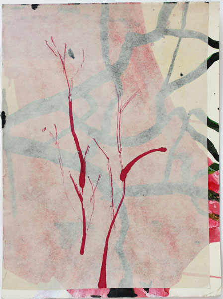 PAPER 201330, 12x9 inches, ink and rice paper collage on paper