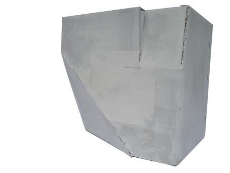 Räumling 2, (2008, acrylic paint / cardboard, 19x14x18 cm)