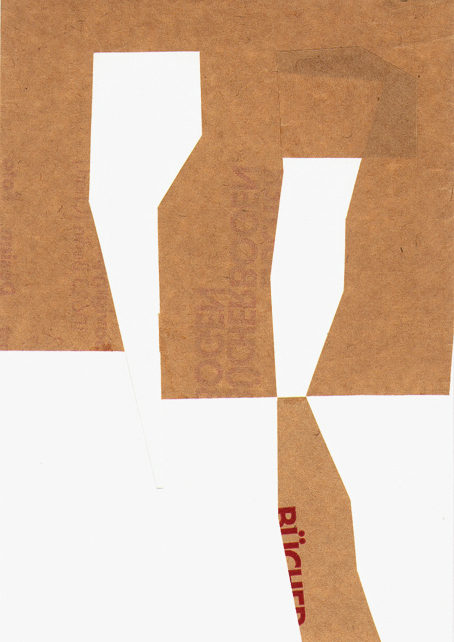 In 2006, Collage / paper, 14.8 x21 cm