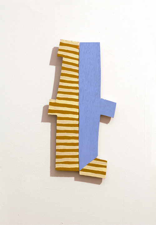 "Martha Clippinger, nice, 2010 acrylic on wood 13"" x 16.5"" x 1"""