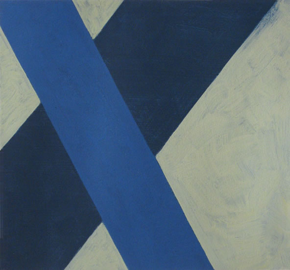 "Criss Cross 29, 2013 . 9.75 x 10.5"" . oil on paper"