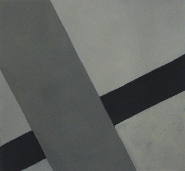 "Criss Cross 4, 2013 . 9.75 x 10.5"" . oil on paper"
