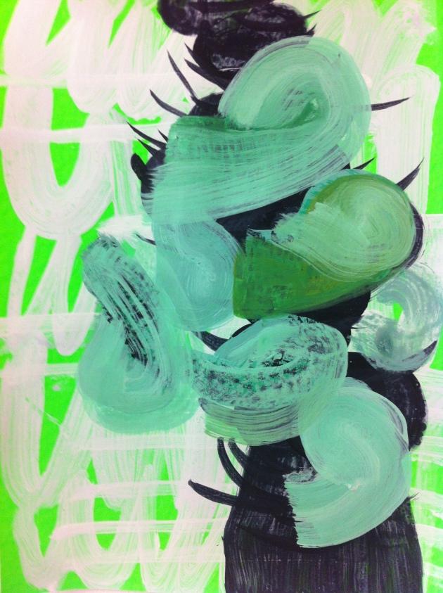 Rachael Macarthur, Pause, acrylic on card