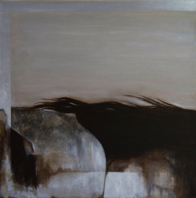 sleeping (the voyeur) - oil on canvas, 24x24 inches, 2012