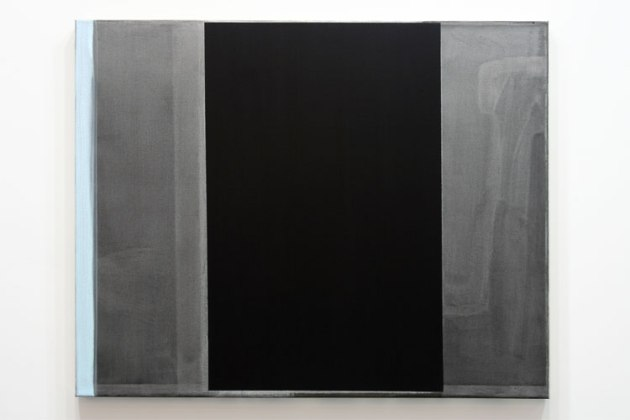Tonight We Do, 2013. Black gesso and acrylic on canvas, 30 x 24 inches.  ( 2 / 18 )