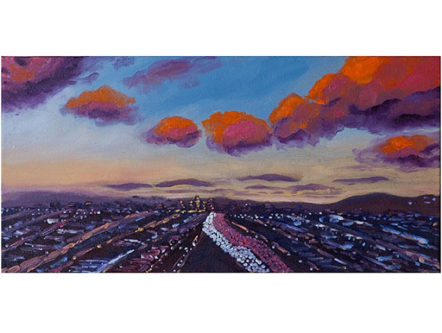 Anniversary Sunset | oil on canvas 10 x 20