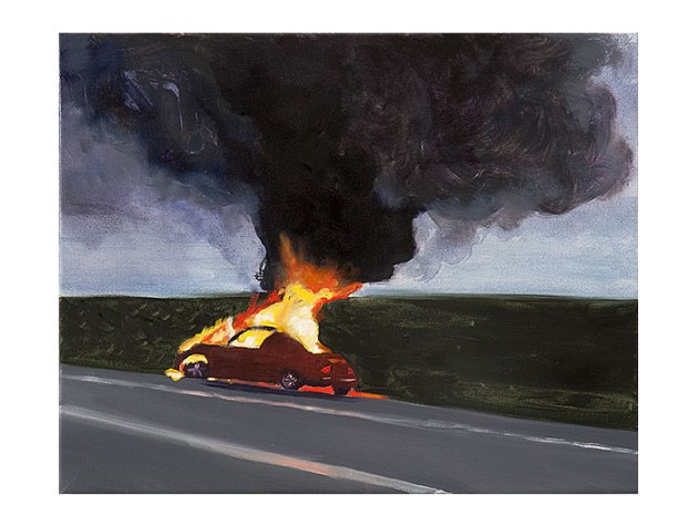 Car Fire I | oil on canvas 16 x 20