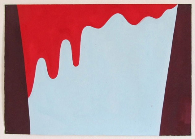 untitled (stones), 2012. Gouache on paper. 35x50cms.