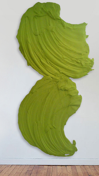 Guajiro, 2013, polymer and dispersed pigment, 92H x 50 W inches.