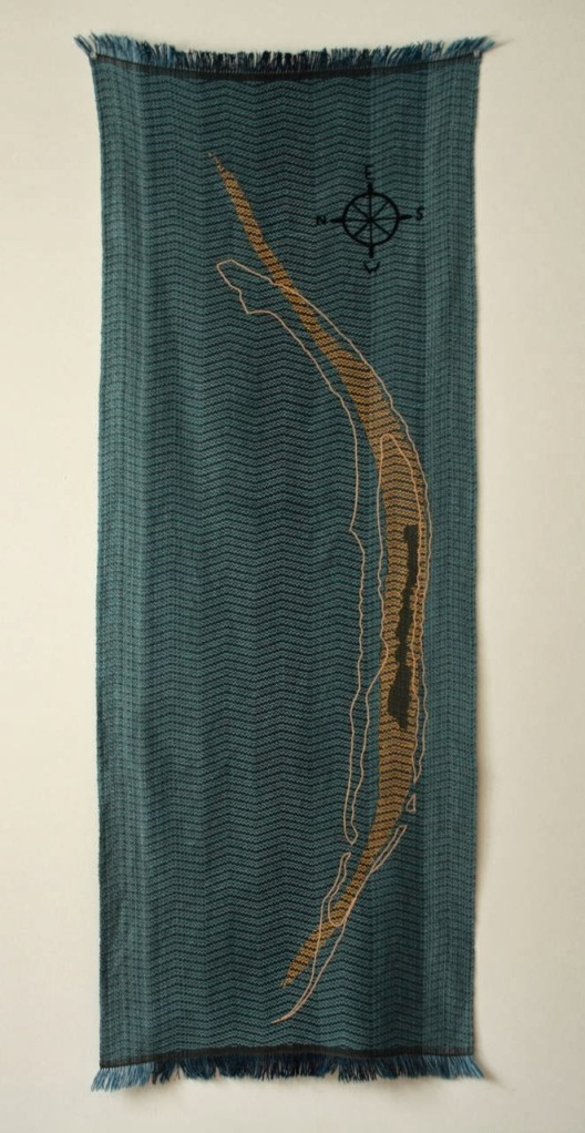 Sable Island, handwoven and embroidered cotton