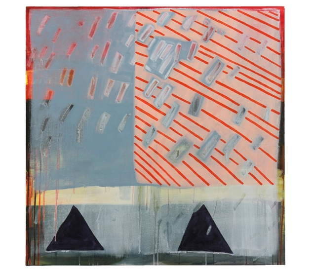 Triangulations, 2014 acrylic on canvas 36x36 in