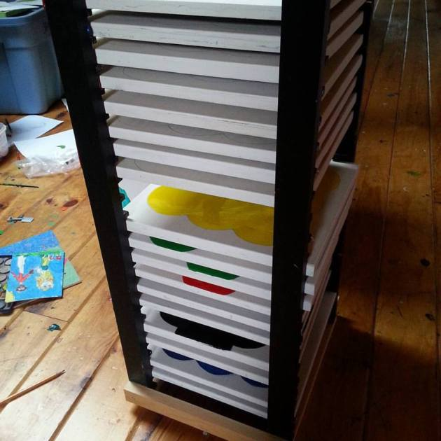 I built a drying rack.